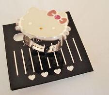 Hello Kitty Ring verstellbar -Pink Kitty- süsse Kitty Original Sanrio NEU & OVP