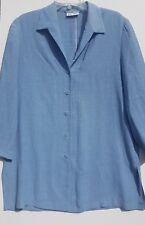 Gerry Weber Ladie's Blue Blouse Shirt Top Jacket Size UK 14 / EU 44
