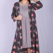 Floral Bull Head Floral Long Cardigan/Duster - Plus Size