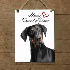 DOBERMANN Home Sweet home mod1 Targa cane piastrella ceramic tile dog