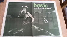 DAVID BOWIE  2 page Dutch ARTICLE / clipping 24x16 inches