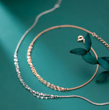 Damen Fußkettchen Fein Glänzend echt Sterling Silber 925 Fußkette