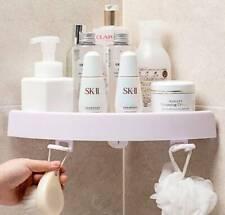 3x Bathroom Corner Shower Suction Shelf Tidy Wall Storage Basket Kitchen Rack