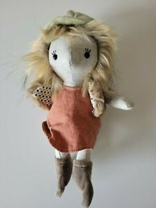 """Jellycat London Forest Forager Clover Plush Girl Doll Woodland Theme New 9"""" NWT"""