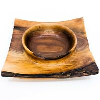 Handmade Rustic Walnut Bowl - Hand-Turned in Detroit, MI!