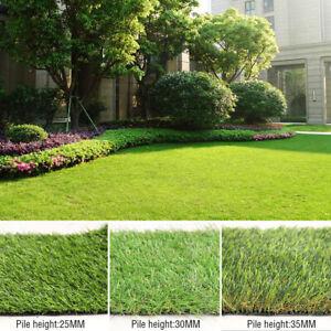 Cuttable 2x3m 2x4m 2x5m Artificial Realistic Grass Lawn Turf Garden Yard Ground