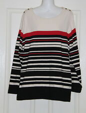 Womens size 18 stretchy long sleeved striped top made by MILLERS