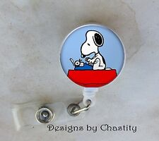 Snoopy Badge Reel Retractable Holder Belt Clip ID Business Teacher RN Nurse