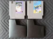 Nintendo (Nes) 2 Game Lot - Star Soldier & Xevious With Sleeves - Authentic