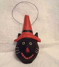 Black Cat,Cat Witch,Cat,Ornament,Wall Hanging,Halloween,Vintage ,Paper pulp,Kitty