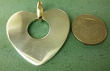 JAMES AVERY RETIRED 14K & STERLING XL Large Heart PENDANT  Hard to Find