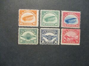 1918-23 US First air mails S#C-6  all Mint OG