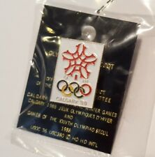 Calgary Canada 1988 Olympic Pin - Original - Vintage Collectible Canadian