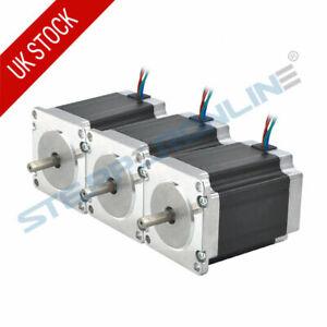 3PCS Nema 23 Stepper Motor 1.9Nm 2.8A 76mm Length 4 Wires 6.35mm Shaft CNC