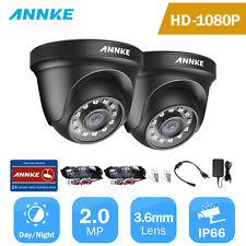 ANNKE 2pcs HD TVI 1080P 2MP Smart Security Camera System Outdoor IR Night Vision