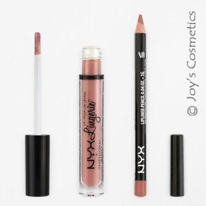 2 NYX Lip Lingerie 06 Push up + Slim Lip pencil 810 Natural Set *Joy's cosmetics