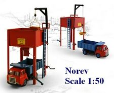 Set de Chantier : Saviem JL 20 camion benne & silo - CIJ by Norev - Echelle 1/50