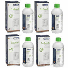 4 x Delonghi Magnifica Espresso Coffee Maker Machine Descaler Fluid 500ml NOKALK