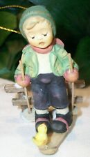 M.I. Hummel Goebel Figurine Ornament Winter Adventure 935256 Boy on Snowboard