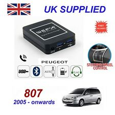 For Peugeot 807 Music Streaming Bluetooth Telephone Charger SD AUX CD Module RD4