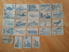 lot 24 old China cigarette card-weapon