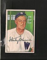 8729* 1952 Bowman # 158 Bucky Harris Ex-Mt
