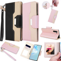 For Samsung Galaxy S10 S20 Plus Ultra Leather Card Wallet Case Flip Cover Stand