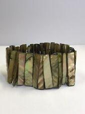 Bronze Colored Abalone Shell Stretch Bracelet