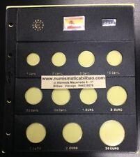 HOJA PARDO MONEDAS EURO ESPAÑA 2012 SC 2€ BURGOS + ANIVERSARIO + 30 EUROS PLATA
