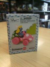 SCHLEICH 40265 Super Smurfs Smurf SMURFETTE IN PINK CAR (( RETIRED ))