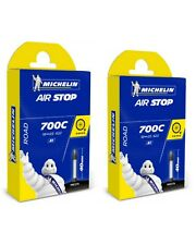 2 x Michelin Airstop Butyl Road Bicycle Tube 700x18-25 40mm Presta Valve 700c
