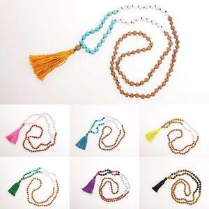 Mala Necklace Rudraksha Gemstone Beads 108 Japa Mala Rosary Meditation from UK