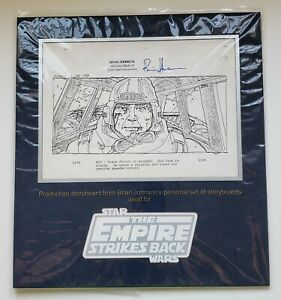 STAR WARS ESB Storyboard copy Production Used SIGNED Prop Store COA
