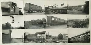 Lot of 33 Photographs Of UK Railway - North East Stations Sheds Etc - Durham