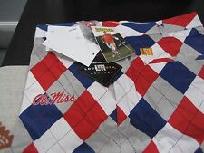 MENS LoudMouth Golf PANTS OLE MISS REBELS 44  WAIST LOUD AND FUNKY RARE NWT