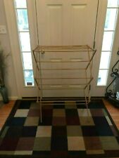 Folding Portable Wood Drying Quilt Clothes Rack Excellent condition