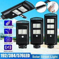 900W 576LED Solar Wall Street Light PIR Motion Sensor Outdoor Garden Lamp+Remote