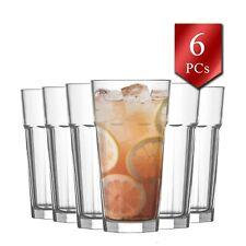 Liqueur Whiskey Drinking Glasses Set of 6, Elegant Highball Glassware Set