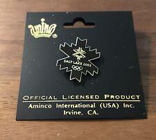 Black Snowflake Salt Lake City 2002 Olympic Pin