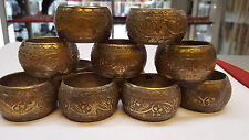 11 antica Serviertenringe in ottone