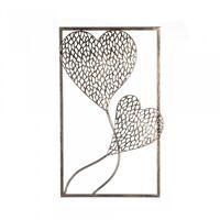 1 x Blattschale Purley Metall silber antik finish Breite 64 cm Geschenk Dekoschale Tischdeko