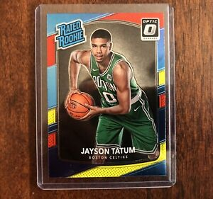 Jayson Tatum 2017-18 Rookie Donruss Optic Red & Yellow RC #198 Boston Celtics
