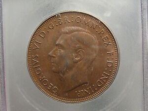 BU 1943 Penny Australia ICG MS63 BR KM#36. #12