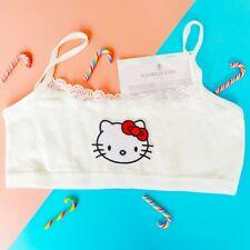 Hello Kitty Bralette Cami Crop Top camisole lace mesh pastel hearts lolita kawai