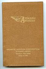 Vtg 1960 ATLANTIC AVIATION Diary Planner TETERBORO AIRPORT NJ Business Aircraft