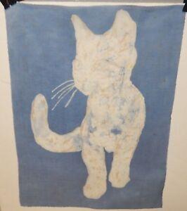H. HEDIGER CAT ORIGINAL BATIK PAINTING