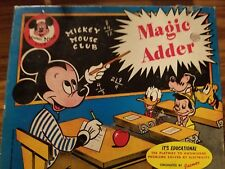 New listing Vintage Mickey Mouse Club Magic Addition educational game Jacmar Electric Math