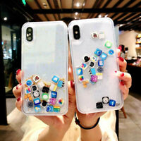 Creative Mobile App Icon Phone Clear Case For X 8 7 6 Plus Liquid Quicksand Case