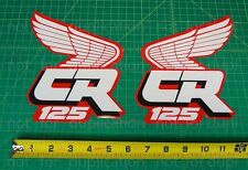 88' 1988 honda CR125 dirtbike decals stickers CR 125 CR125R 125R AHRMA VMX