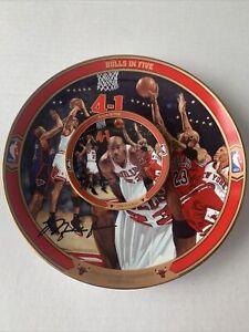 Vintage Michael Jordan Bulls in Five Lot of 2 Plates Chicago Bulls Upper Deck